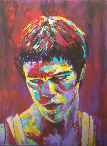 """Painting titled """"""""Bruce Lee"""""""" by Elle Mccarthy, Original Art, Acrylic"""