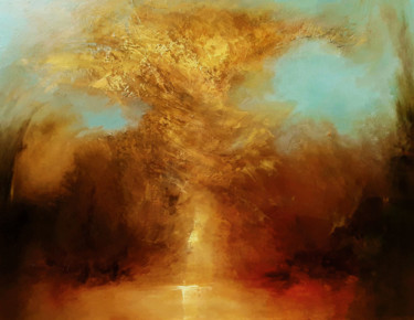 """Painting titled """"Bursting with Life"""" by Olena Topliss, Original Art, Oil"""