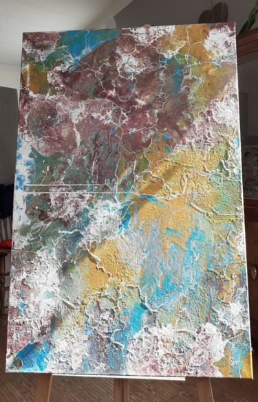 """Painting titled """"Earth"""" by Elodie Varin, Original Art, Acrylic"""