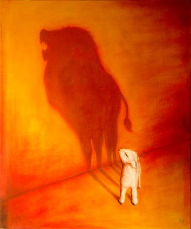 """Painting titled """"The Second Coming"""" by Emanuel Titus Marginean, Original Art, Oil"""