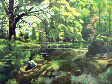 """Painting titled """"Spring around the l…"""" by Emilia Amaro, Original Art, Oil"""