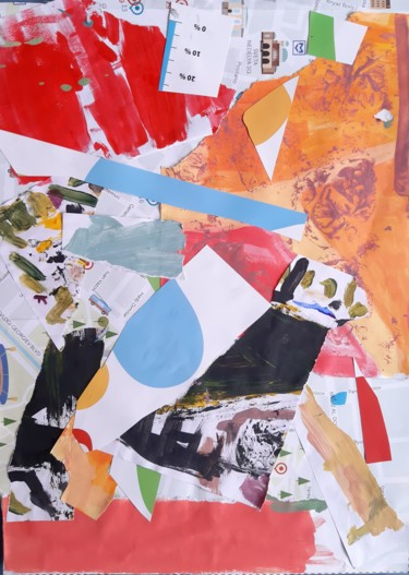Collages, acrylic, abstract, artwork by Emil Borisov