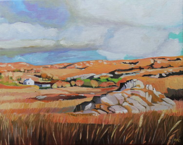"""Painting titled """"On The Old Railway…"""" by Emma Cownie, Original Art, Oil"""
