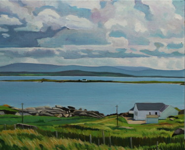 """Painting titled """"Over to Inishkeerag…"""" by Emma Cownie, Original Art, Oil"""