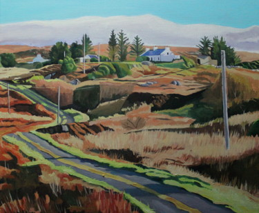 """Painting titled """"Long and Winding Ro…"""" by Emma Cownie, Original Art, Oil"""