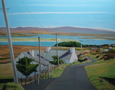 """Painting titled """"View from Arranmore…"""" by Emma Cownie, Original Art, Oil"""