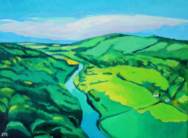 """Painting titled """"View From Symonds Y…"""" by Emma Cownie, Original Art, Oil"""