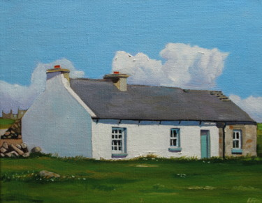 """Painting titled """"Gola Cottage"""" by Emma Cownie, Original Art, Oil"""