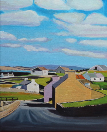 """Painting titled """"Driving into Magher…"""" by Emma Cownie, Original Art, Oil"""