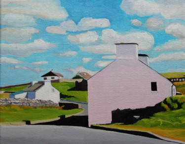 """Painting titled """"The Pink House, Mar…"""" by Emma Cownie, Original Art, Oil"""