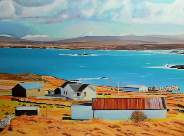 """Painting titled """"View From Poolawadd…"""" by Emma Cownie, Original Art, Oil"""