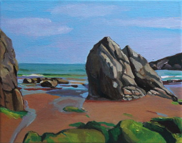 Landscape Painting, oil, impressionism, artwork by Emma Cownie