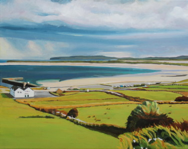 """Painting titled """"Overlooking Maghera…"""" by Emma Cownie, Original Art, Oil"""