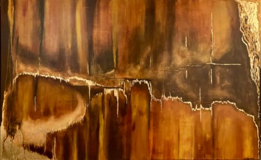 """Painting titled """"Eclats"""" by Emmanuelle Biscara, Original Art, Acrylic Mounted on Stretcher frame"""
