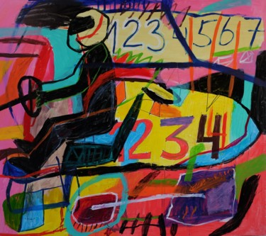 """Painting titled """"Racer"""" by Eric Bronza, Original Art, Acrylic"""