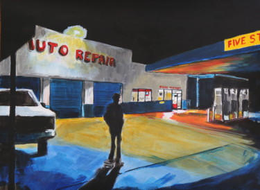 """Painting titled """"Auto repair"""" by Eric Stephan, Original Art, Acrylic"""