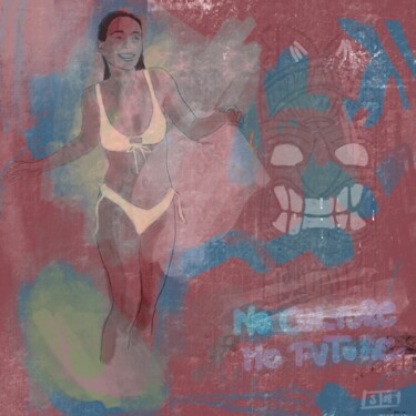 """Digital Arts titled """"No culture no futur…"""" by Eric Stephan, Original Art, Digital Painting Mounted on Other rigid panel"""