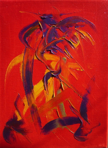 Painting, oil, abstract, artwork by Eric Taboureau (Donekk)