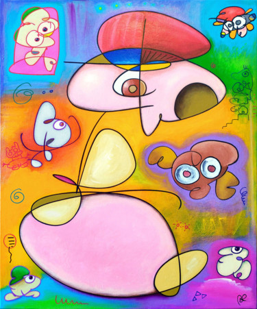 Abstract Painting, acrylic, outsider art, artwork by Eric Bourdon