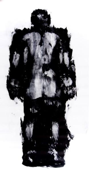 Painting, ink, expressionism, artwork by Erwin Bruegger
