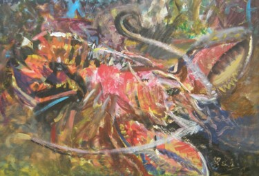"""Painting titled """"LOBSTER"""" by Eryk Maler, Original Art, Oil"""