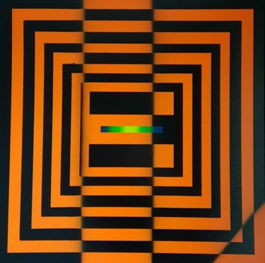 """Painting titled """"Squared Warning"""" by Esone, Original Art, Spray paint"""