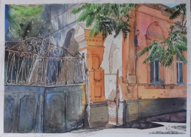 """Painting titled """"My favorite street"""" by Eugene Panov, Original Art, Watercolor"""