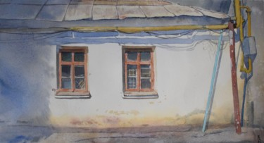"""Painting titled """"Old house"""" by Eugene Panov, Original Art, Watercolor"""