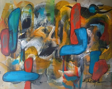 Painting, acrylic, abstract, artwork by Eugenia Delad