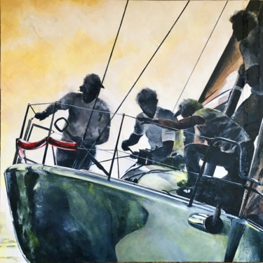 """Painting titled """"Melges32"""" by Eugenio Giaccone, Original Art, Acrylic"""
