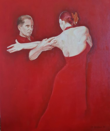 Dance Painting, oil, figurative, artwork by Evdokiya Hristova