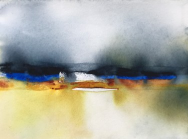 """Painting titled """"Morning light in th…"""" by Ewa Helzen, Original Art, Watercolor"""