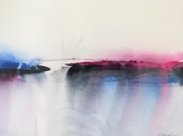 Beach Painting, watercolor, conceptual art, artwork by Ewa Helzen