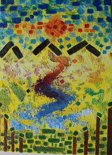 """Painting titled """"ABSTRACT NATURE 2"""" by Florence Ducanchez, Original Art, Acrylic"""