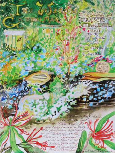 """Painting titled """"Poster – The Wagon…"""" by Fraser Maciver (1960 - 2019), Original Art, Watercolor"""