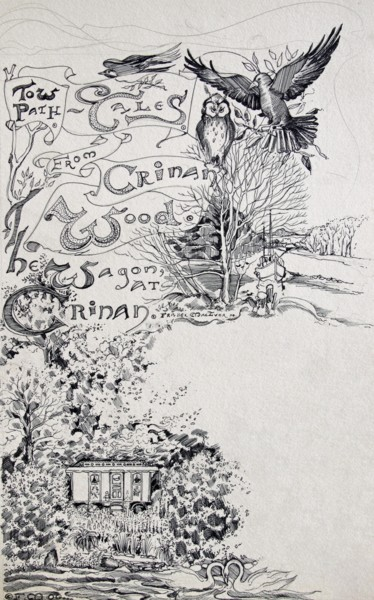 """Drawing titled """"Towpath Tales Illus…"""" by Fraser Maciver (1960 - 2019), Original Art, Ink"""