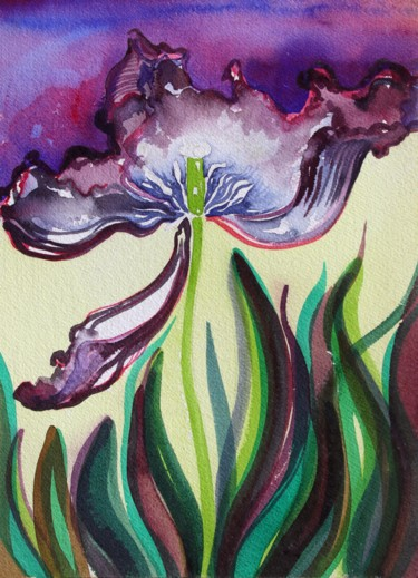 """Painting titled """"Tulip"""" by Fraser Maciver (1960 - 2019), Original Art, Watercolor"""