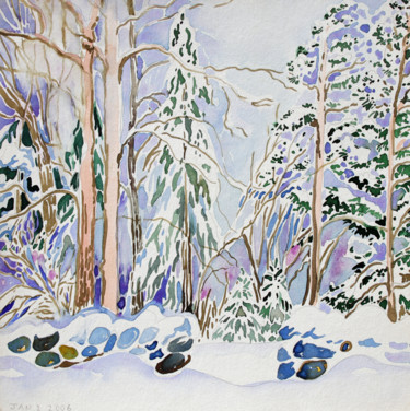 """Painting titled """"Finland Suite - Sno…"""" by Fraser Maciver (1960 - 2019), Original Art, Watercolor"""