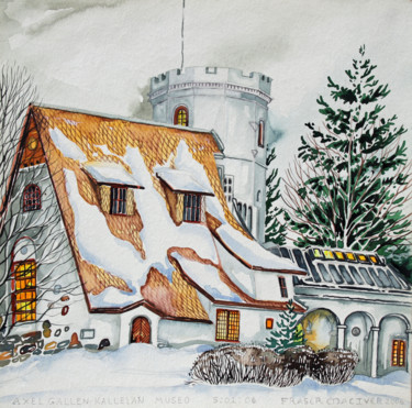 """Painting titled """"Finland Suite - Gal…"""" by Fraser Maciver (1960 - 2019), Original Art, Watercolor"""