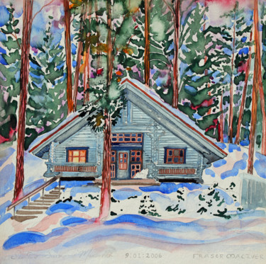 """Painting titled """"Finland Suite - Cab…"""" by Fraser Maciver (1960 - 2019), Original Art, Watercolor"""