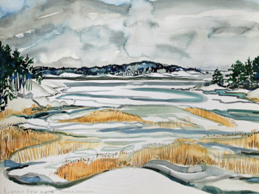 """Painting titled """"Finland Suite - Kus…"""" by Fraser Maciver (1960 - 2019), Original Art, Watercolor"""