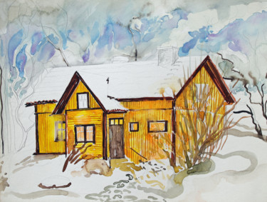 """Painting titled """"Finland Suite - Old…"""" by Fraser Maciver (1960 - 2019), Original Art, Watercolor"""