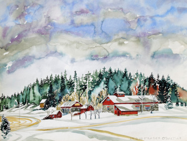 """Painting titled """"Finland Suite - Ijo…"""" by Fraser Maciver (1960 - 2019), Original Art, Watercolor"""