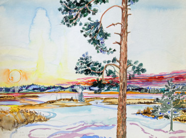 """Painting titled """"Finland Suite - Acr…"""" by Fraser Maciver (1960 - 2019), Original Art, Watercolor"""