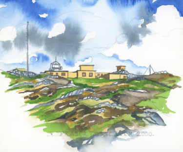 """Painting titled """"Islay Suite - Radar…"""" by Fraser Maciver (1960 - 2019), Original Art, Watercolor"""