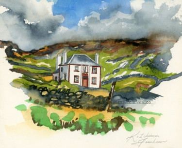 """Painting titled """"Islay Suite - Kilch…"""" by Fraser Maciver (1960 - 2019), Original Art, Watercolor"""