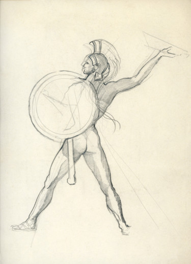 """Drawing titled """"Study of Graeco Rom…"""" by Fraser Maciver (1960 - 2019), Original Art, Pencil"""