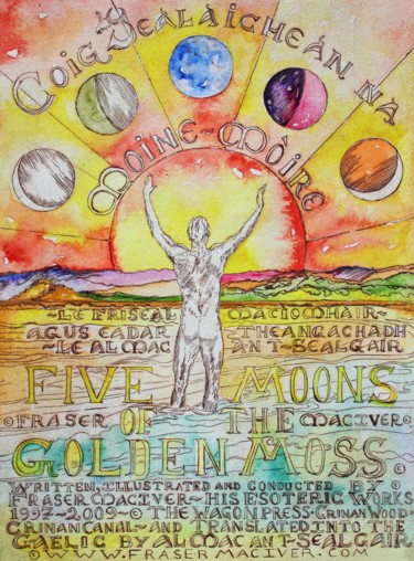 """Printmaking titled """"Five Moons of the G…"""" by Fraser Maciver (1960 - 2019), Original Art, Etching"""