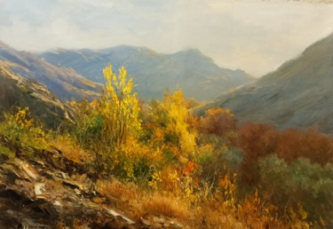 """Painting titled """"Colorful Fall On Th…"""" by Faramarz Mokhtarpour, Original Art, Oil"""