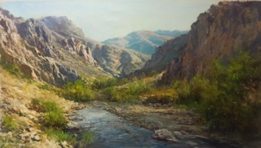"""Painting titled """"Beautiful Valley"""" by Faramarz Mokhtarpour, Original Art, Oil"""